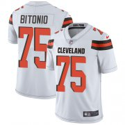 Wholesale Cheap Nike Browns #75 Joel Bitonio White Youth Stitched NFL Vapor Untouchable Limited Jersey