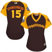 Wholesale Cheap Padres #15 Cory Spangenberg Brown 2016 All-Star National League Women's Stitched MLB Jersey