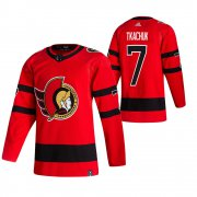 Wholesale Cheap Ottawa Senators #7 Brady Tkachuk Red Men's Adidas 2020-21 Reverse Retro Alternate NHL Jersey