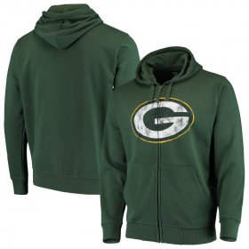 Wholesale Cheap Green Bay Packers G-III Sports by Carl Banks Primary Logo Full-Zip Hoodie Green