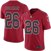 Wholesale Cheap Nike Falcons #26 Tevin Coleman Red Men's Stitched NFL Limited Rush Jersey