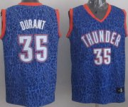 Wholesale Cheap Oklahoma City Thunder #35 Kevin Durant Blue Leopard Print Fashion Jersey