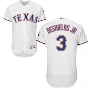 Wholesale Cheap Rangers #3 Delino DeShields Jr. White Flexbase Authentic Collection Stitched MLB Jersey