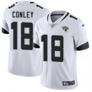 Wholesale Cheap Nike Jaguars #18 Chris Conley White Men's Stitched NFL Vapor Untouchable Limited Jersey