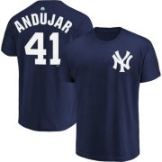 Wholesale Cheap New York Yankees #41 Miguel Andujar Majestic Official Name & Number T-Shirt Navy