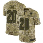 Wholesale Cheap Nike Dolphins #20 Reshad Jones Camo Men's Stitched NFL Limited 2018 Salute To Service Jersey