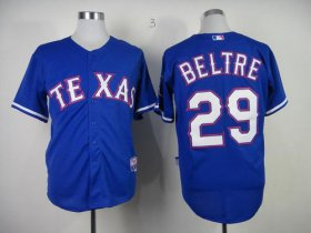 Wholesale Cheap Rangers #29 Adrian Beltre Blue Cool Base Stitched MLB Jersey