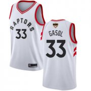 Cheap Raptors #33 Marc Gasol White 2019 Finals Bound Youth Basketball Swingman Association Edition Jersey