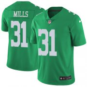 Wholesale Cheap Nike Eagles #31 Jalen Mills Green Men's Stitched NFL Limited Rush Jersey