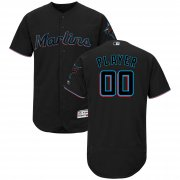 Wholesale Cheap Marlins Personalized Alternate 2019 Authentic Collection Flex Base Black MLB Jersey (S-3XL)