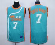 Wholesale Cheap Flint Tropics 7 Coffe Black Teal Semi Pro Movie Stitched Basketball Jersey