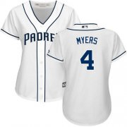 Wholesale Cheap Padres #4 Wil Myers White Home Women's Stitched MLB Jersey