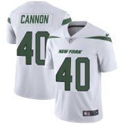 Wholesale Cheap Nike Jets #40 Trenton Cannon White Youth Stitched NFL Vapor Untouchable Limited Jersey