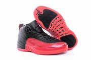 Wholesale Cheap Womens Air Jordan 12 Flu Game 2016 Black/Red