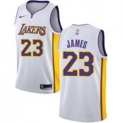 Wholesale Cheap Nike Los Angeles Lakers #23 LeBron James White NBA Swingman Association Edition Jersey