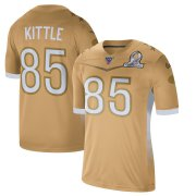 Wholesale Cheap San Francisco 49ers #85 George Kittle Men's Nike 2020 NFC Pro Bowl Game Jersey Gold