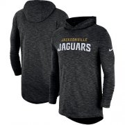 Wholesale Cheap Nike Jacksonville Jaguars Black Sideline Slub Performance Hooded Long Sleeve T-Shirt