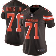 Wholesale Cheap Nike Browns #71 Jedrick Wills JR Brown Team Color Women's Stitched NFL Vapor Untouchable Limited Jersey
