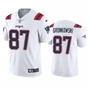 Wholesale Cheap New England Patriots #87 Rob Gronkowski Men's Nike White 2020 Vapor Limited Jersey