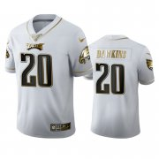 Wholesale Cheap Philadelphia Eagles #20 Brian Dawkins Men's Nike White Golden Edition Vapor Limited NFL 100 Jersey