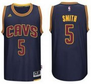 Wholesale Cheap Men's Cleveland Cavaliers #5 J.R. Smith Revolution 30 Swingman 2014 New Navy Blue Jersey