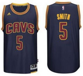 Wholesale Cheap Men\'s Cleveland Cavaliers #5 J.R. Smith Revolution 30 Swingman 2014 New Navy Blue Jersey