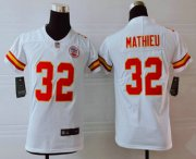 Wholesale Cheap Youth Kansas City Chiefs #32 Tyrann Mathieu White 2017 Vapor Untouchable Stitched NFL Nike Limited Jersey