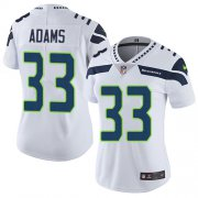 Wholesale Cheap Nike Seahawks #33 Jamal Adams White Women's Stitched NFL Vapor Untouchable Limited Jersey