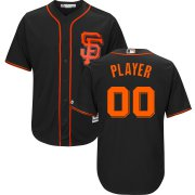 Wholesale Cheap San Francisco Giants Majestic Alternate 2017 Cool Base Custom Jersey Black