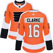 Wholesale Cheap Adidas Flyers #16 Bobby Clarke Orange Home Authentic Women's Stitched NHL Jersey