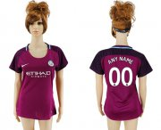 Wholesale Cheap Women's Manchester City Personalized Away Soccer Club Jersey