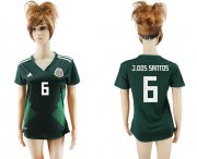Wholesale Cheap Women's Mexico #6 J.Dos Santos Home Soccer Country Jersey