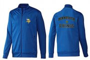 Wholesale Cheap NFL Minnesota Vikings Heart Jacket Blue