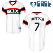 Wholesale Cheap White Sox #7 Tim Anderson White Alternate Home Cool Base Stitched Youth MLB Jersey