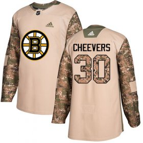 Wholesale Cheap Adidas Bruins #30 Gerry Cheevers Camo Authentic 2017 Veterans Day Stitched NHL Jersey