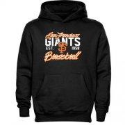 Wholesale Cheap San Francisco Giants Script MLB Pullover Black MLB Hoodie