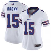 Wholesale Cheap Nike Bills #15 John Brown White Women's Stitched NFL Vapor Untouchable Limited Jersey
