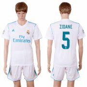 Wholesale Cheap Real Madrid #5 Zidane White Home Soccer Club Jersey
