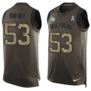 Wholesale Cheap Nike Dolphins #53 Kyle Van Noy Green Men's Stitched NFL Limited Salute To Service Tank Top Jersey