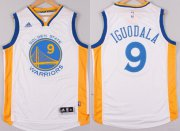 Wholesale Cheap Golden State Warriors #9 Andre Iguodala Revolution 30 Swingman 2014 New White Jersey