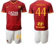 Wholesale Cheap Roma #44 Manolas Red Home Soccer Club Jersey