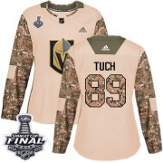 Wholesale Cheap Adidas Golden Knights #89 Alex Tuch Camo Authentic 2017 Veterans Day 2018 Stanley Cup Final Women's Stitched NHL Jersey