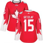 Wholesale Cheap Team Canada #15 Ryan Getzlaf Red 2016 World Cup Women's Stitched NHL Jersey