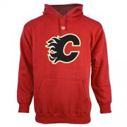Wholesale Cheap Calgary Flames Old Time Hockey Big Logo with Crest Pullover Hoodie Red