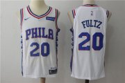 Wholesale Cheap Men's Philadelphia 76ers #20 Markelle Fultz White 2017-2018 Nike Swingman Stubhub Stitched NBA Jersey