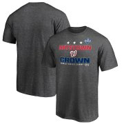 Wholesale Cheap Washington Nationals Majestic 2019 World Series Champions Cut Off T-Shirt Heather Charcoal