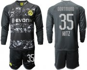 Wholesale Cheap Dortmund #35 Hitz Away Long Sleeves Soccer Club Jersey