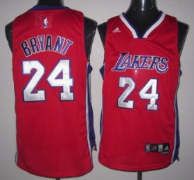 Wholesale Cheap Los Angeles Lakers #24 Kobe Bryant Red Swingman Jersey