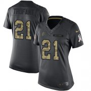 Wholesale Cheap Nike Falcons #21 Desmond Trufant Black Women's Stitched NFL Limited 2016 Salute to Service Jersey