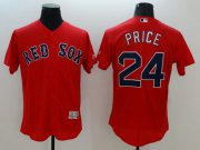 Wholesale Cheap Red Sox #24 David Price Red Flexbase Authentic Collection Stitched MLB Jersey